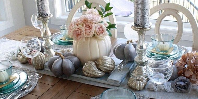 decoracion de mesas calabazas pintadas ideas decorativas