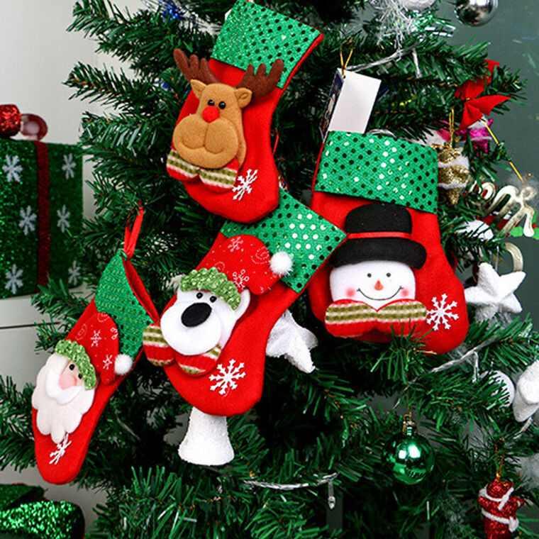 calcetines navideños arbol