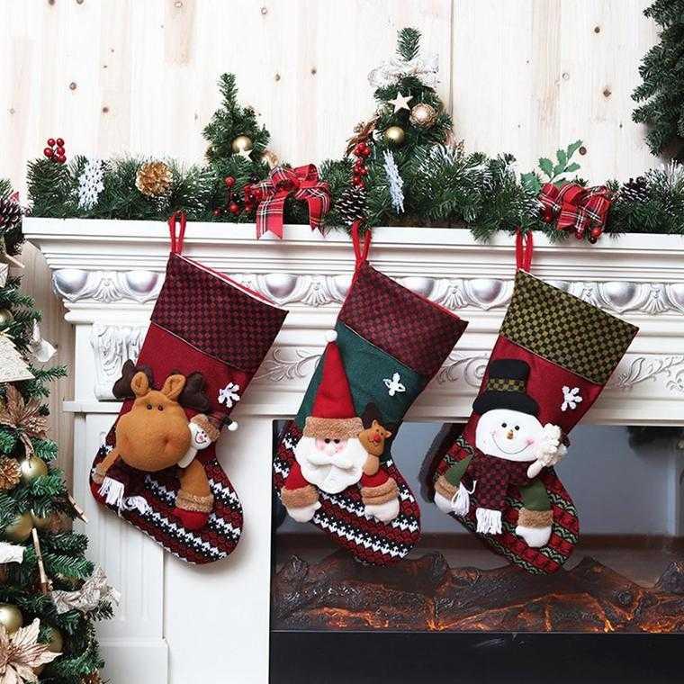 calcetines navideños botas