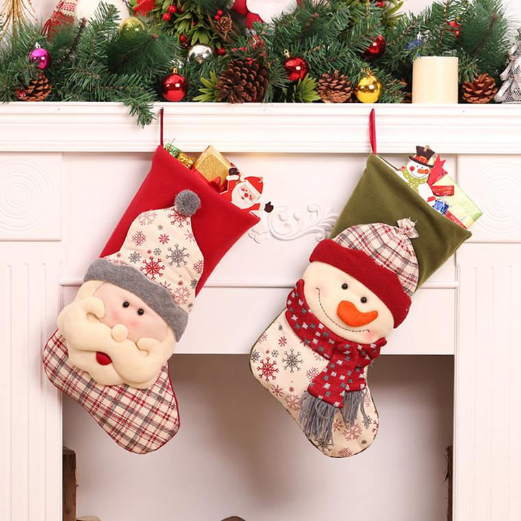 calcetines navideños caras