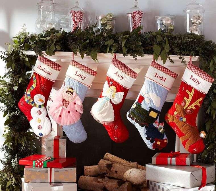calcetines navideños colores