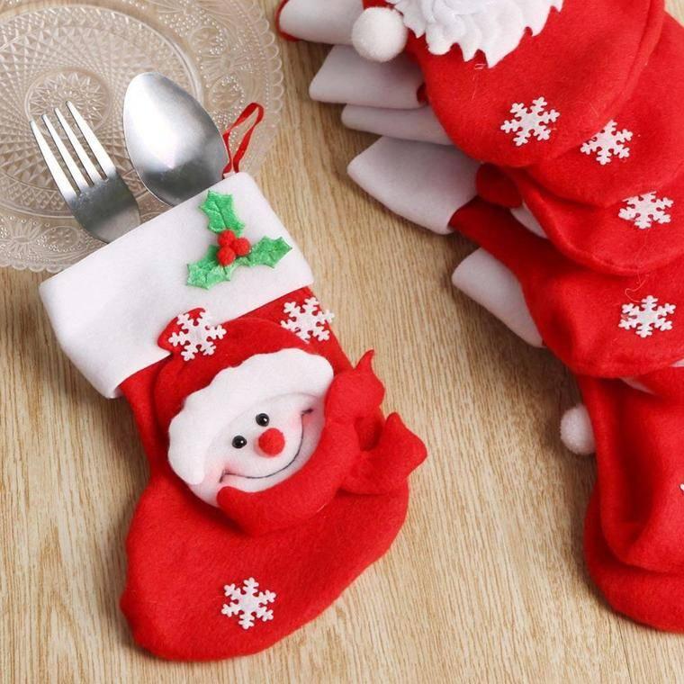 calcetines navideños cubiertos