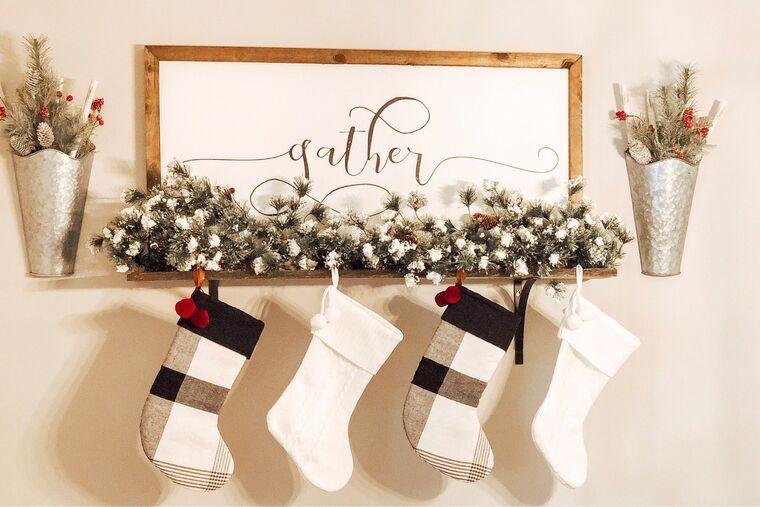 calcetines navideños elegante