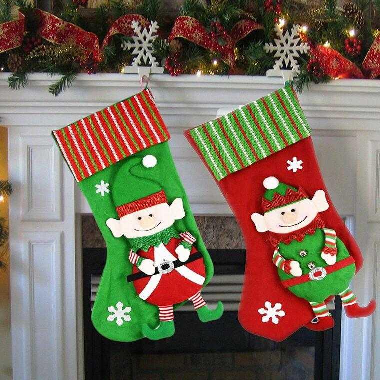 calcetines navideños elfos