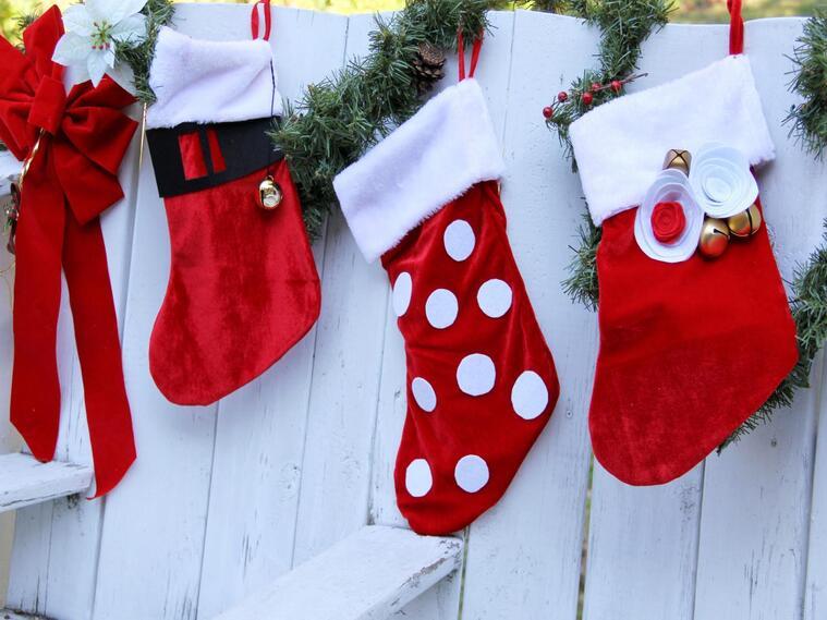 calcetines navideños exterior