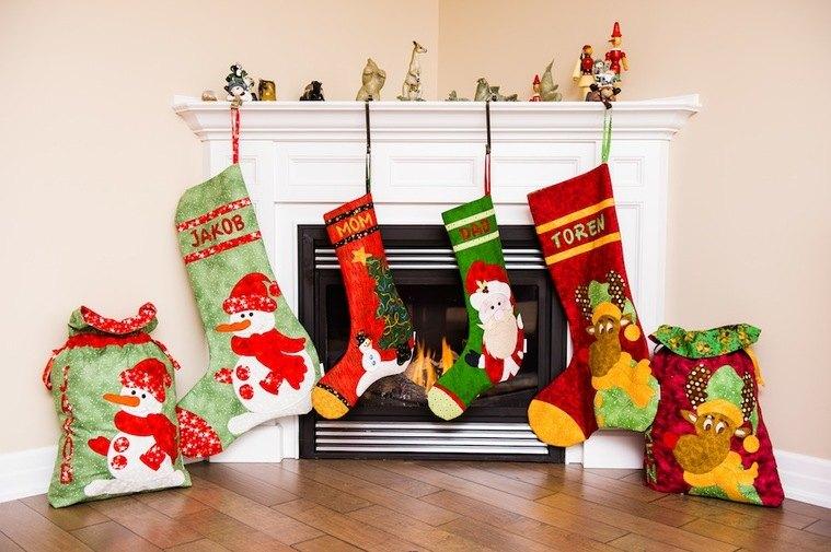 calcetines navideños gigantes
