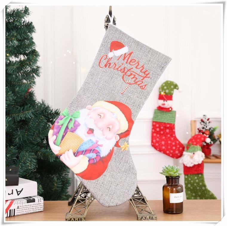 calcetines navideños mesa