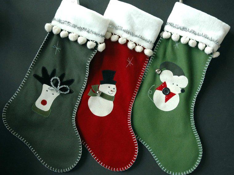 calcetines navideños muñeco