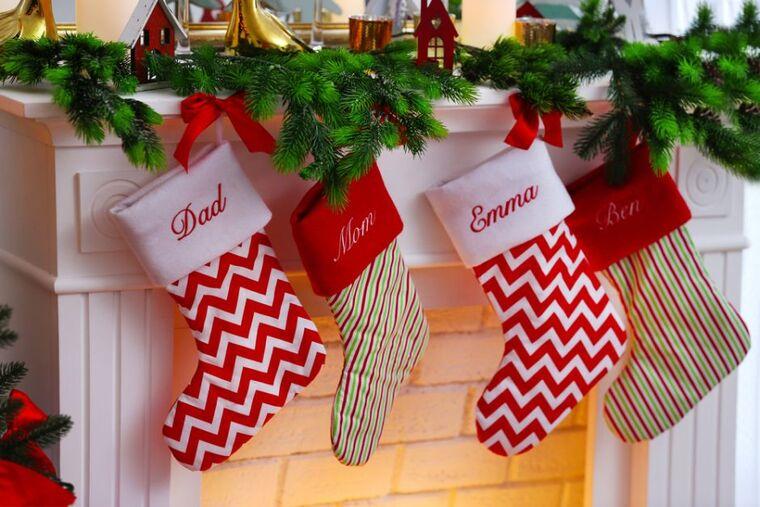 calcetines navideños present