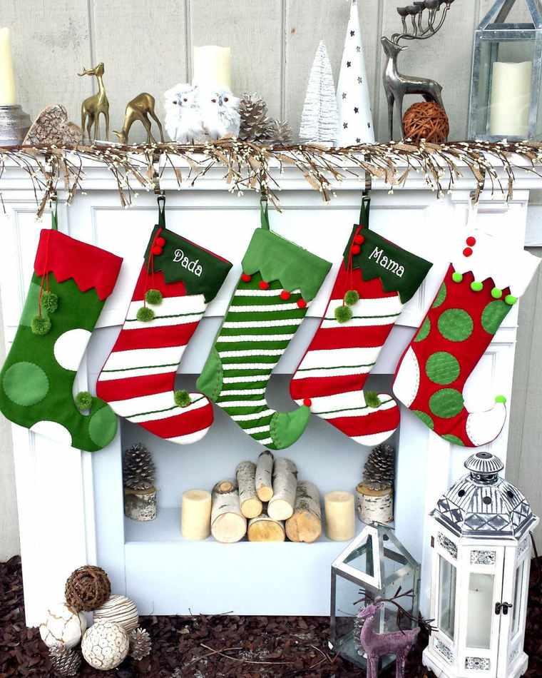 calcetines navideños puntas