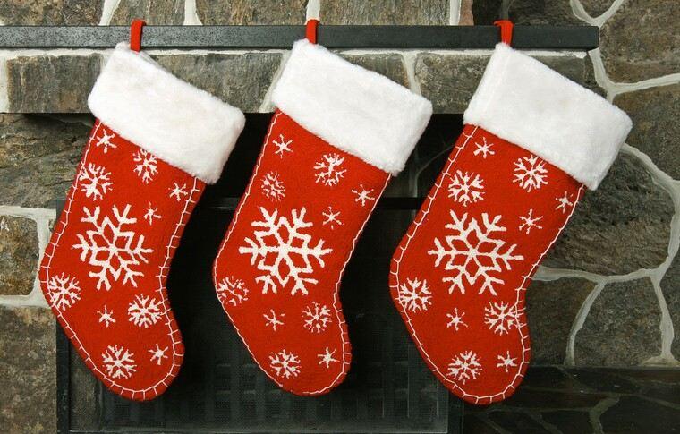 calcetines navideños rojo