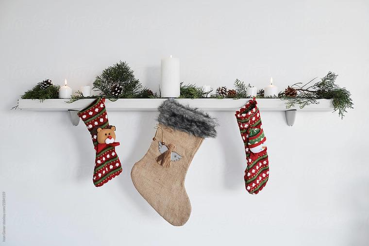 calcetines navideños simples