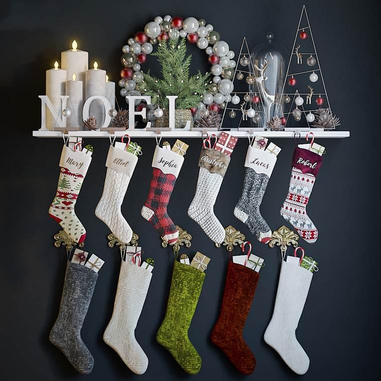 calcetines navideños varios
