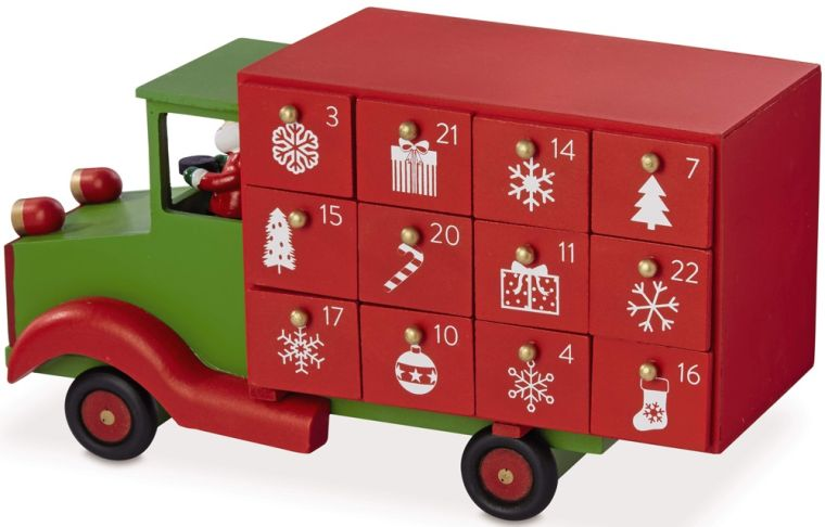 calendario de adviento camion