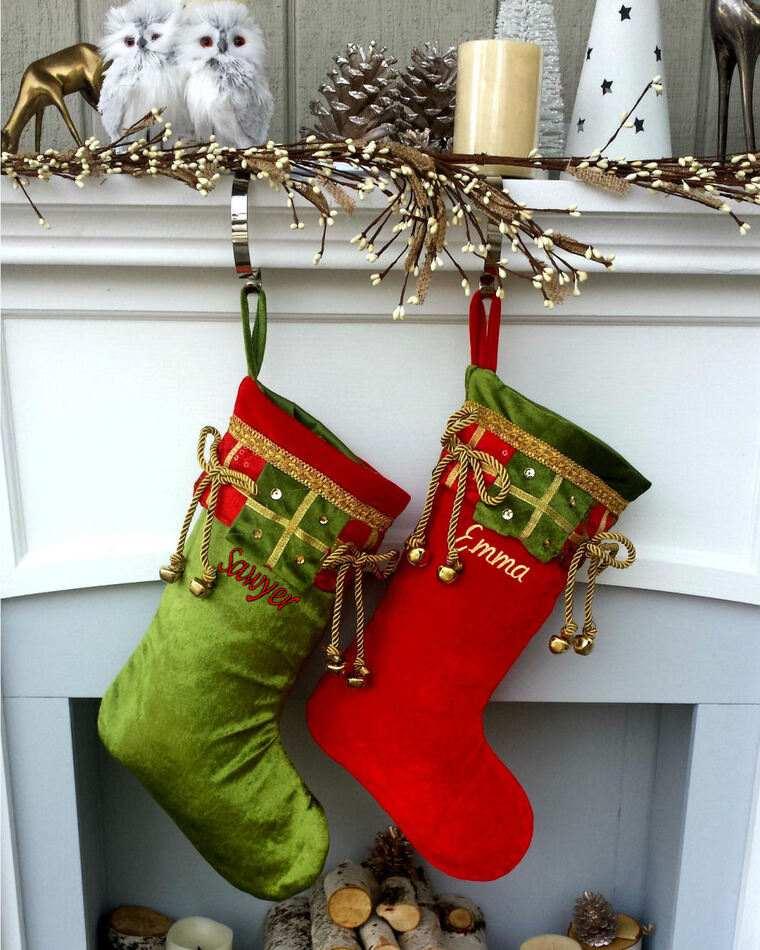 campanas de navidad botas