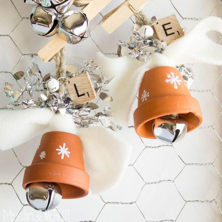 campanas de navidad macetas