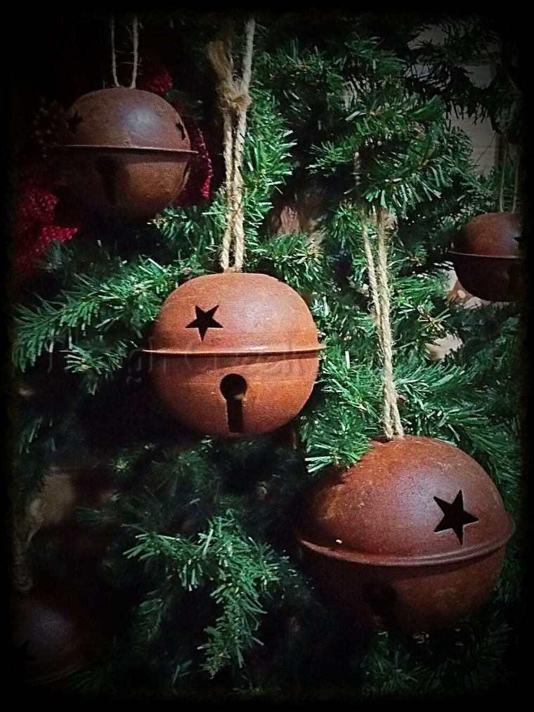 campanas de navidad rustica