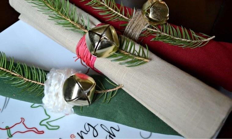 campanas de navidad servilletaa