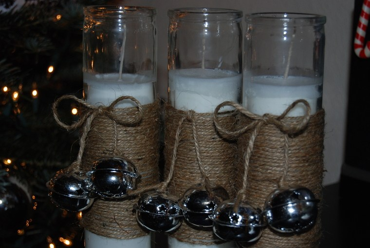 campanas de navidad velas