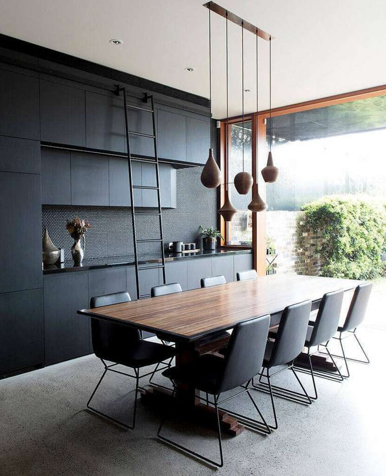 cocina negra-diseno-carter-williamson-architects