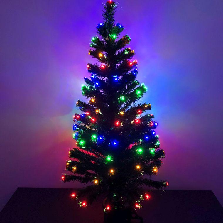 cómo adornar un árbol de navidad LED