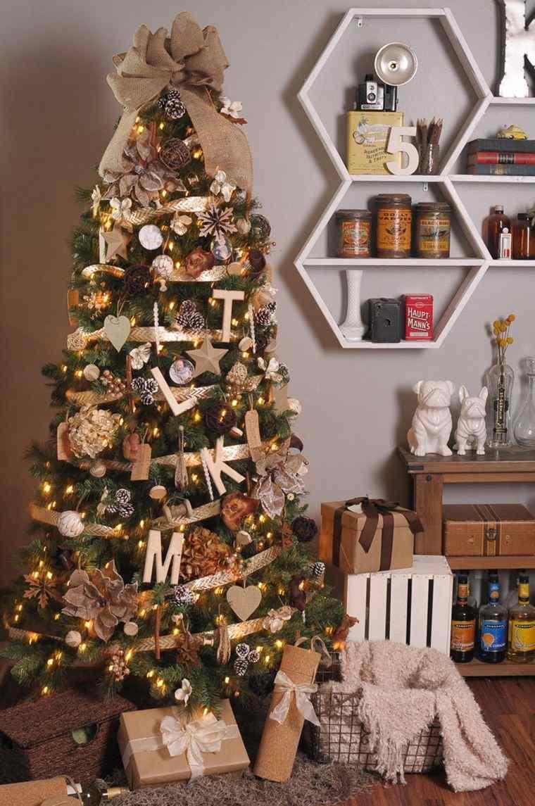 cómo adornar un árbol de navidad arpillera