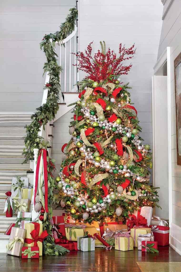 cómo adornar un árbol de navidad bolas