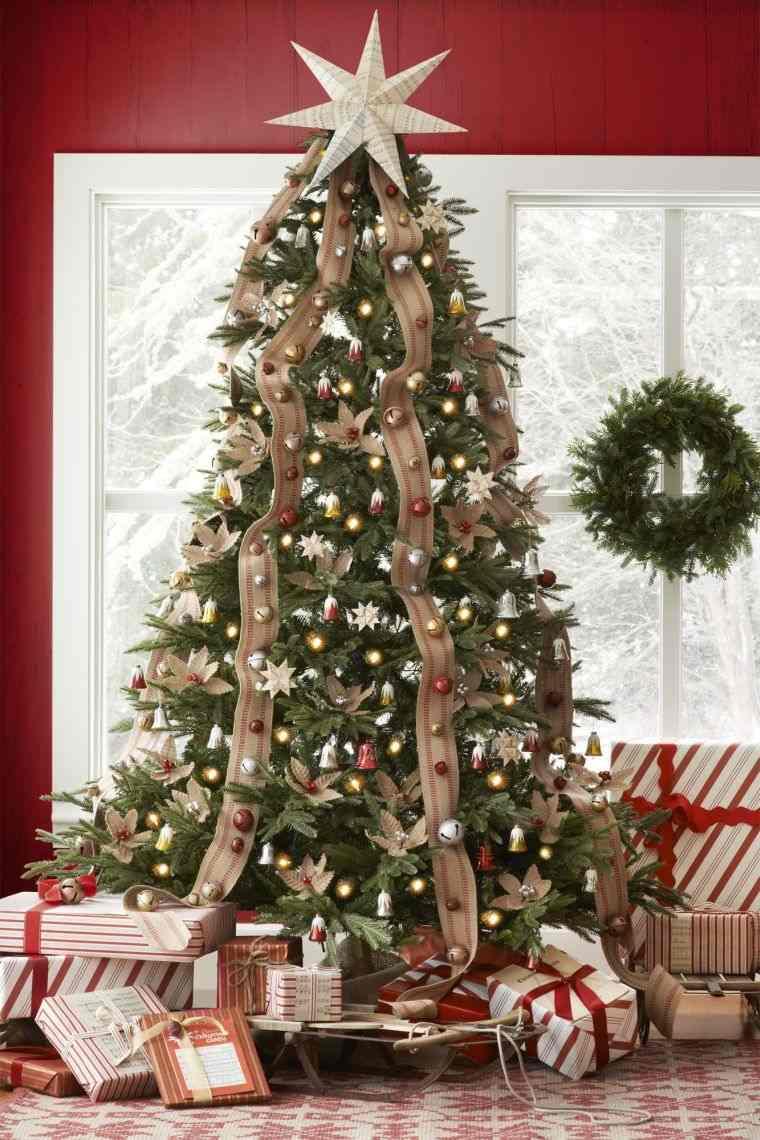 cómo adornar un árbol de navidad cinta
