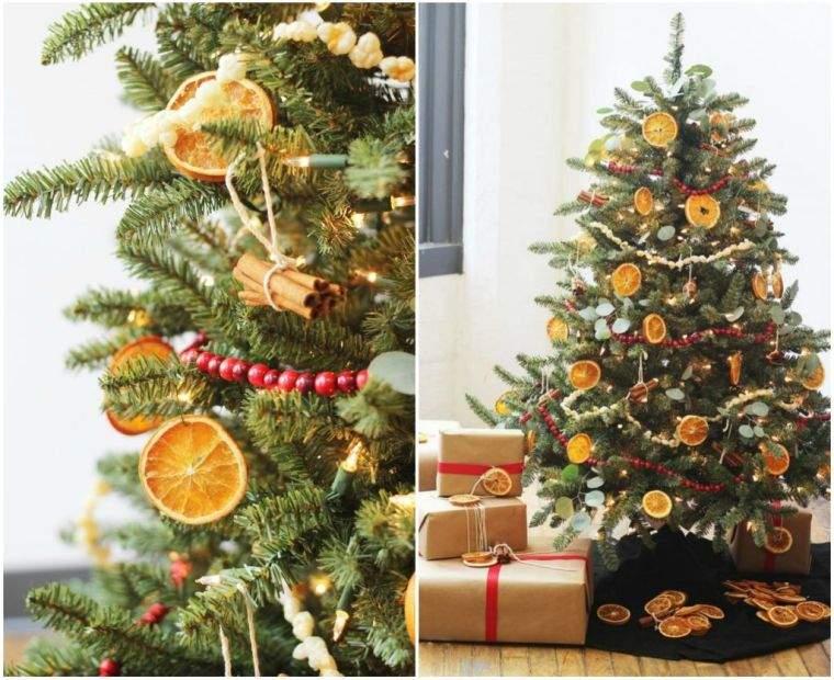 cómo adornar un árbol de navidad citricos