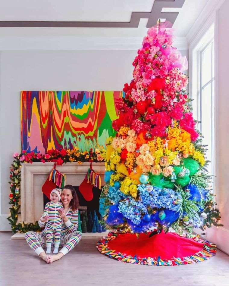 cómo adornar un árbol de navidad color
