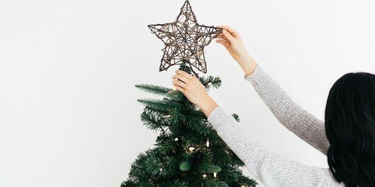 cómo adornar un árbol de navidad estrella