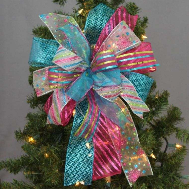 cómo adornar un árbol de navidad lazo