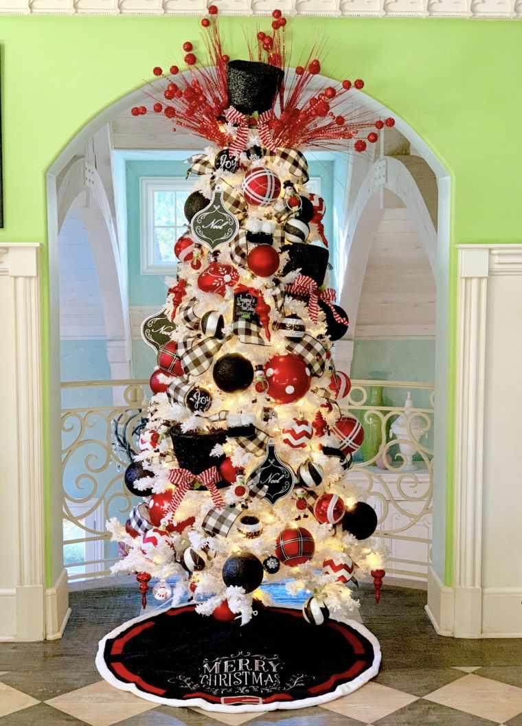 cómo adornar un árbol de navidad negro