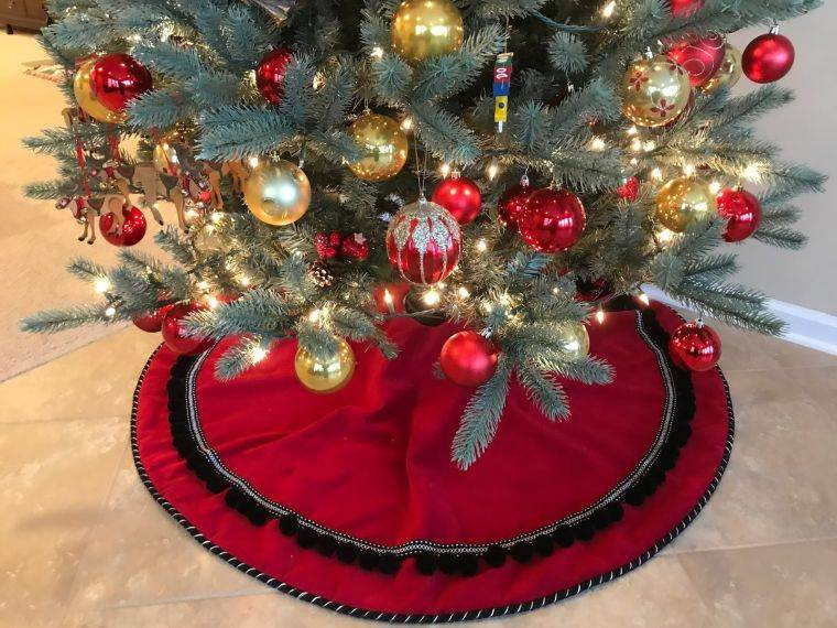 cómo adornar un árbol de navidad pie