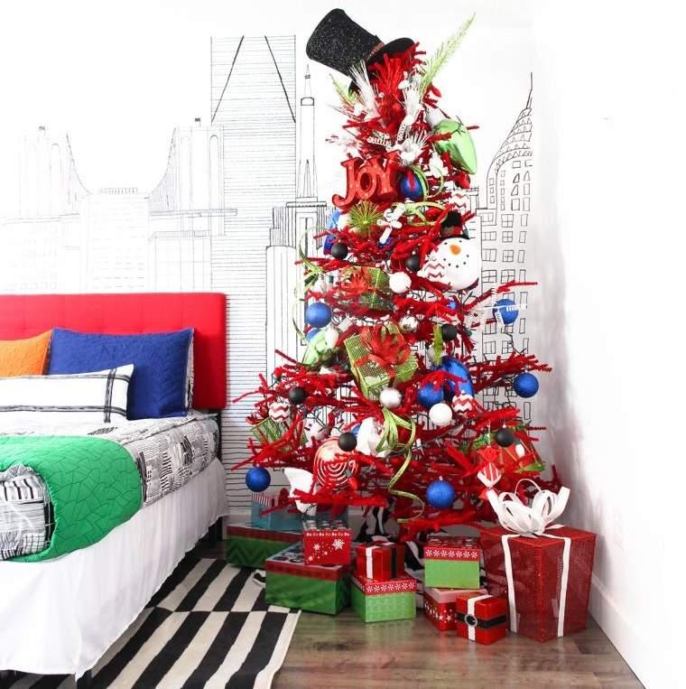 cómo adornar un árbol de navidad sombreros