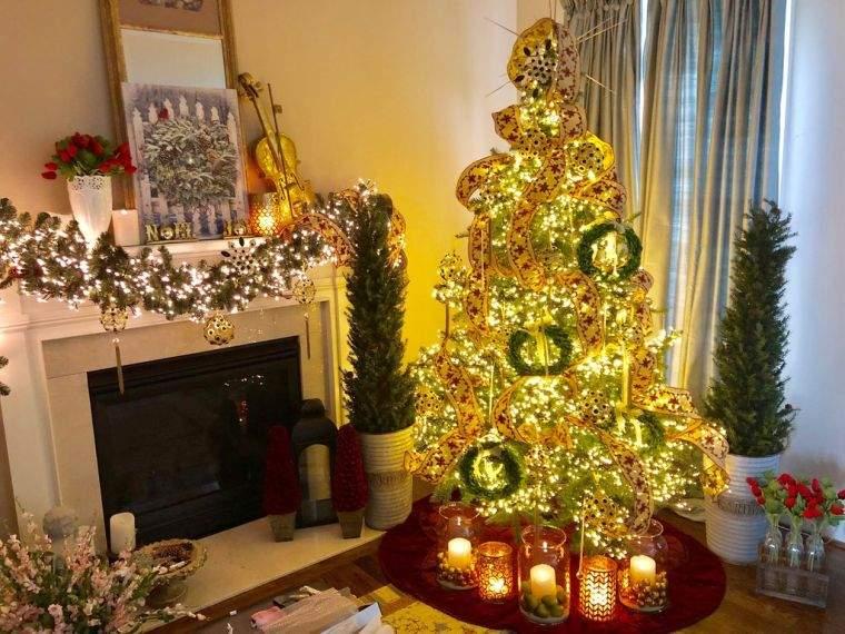 cómo adornar un árbol de navidad velas