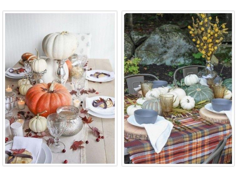 decoracion de mesas calabazas otoño