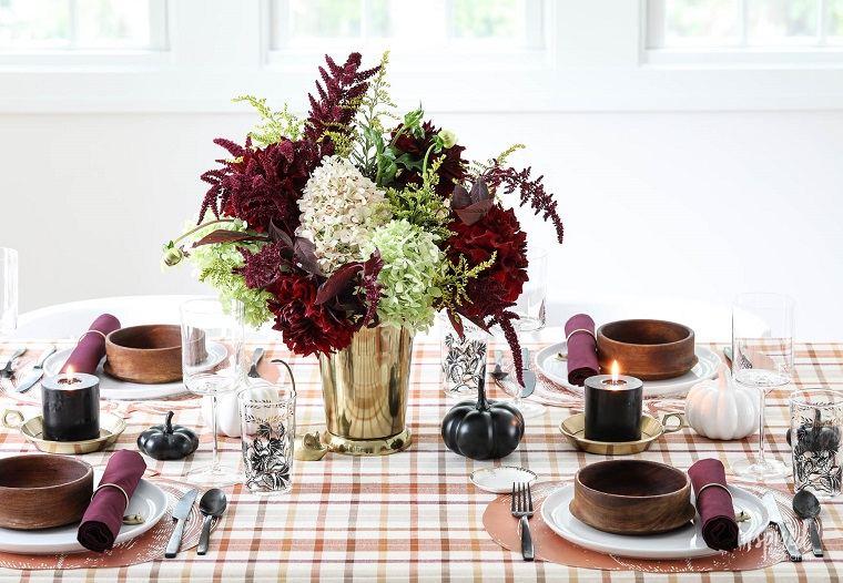 decoracion de mesas coloridas otoño diferente