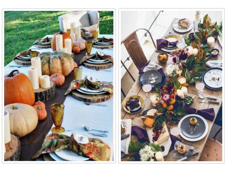 decoracion de mesas elementos calabazas