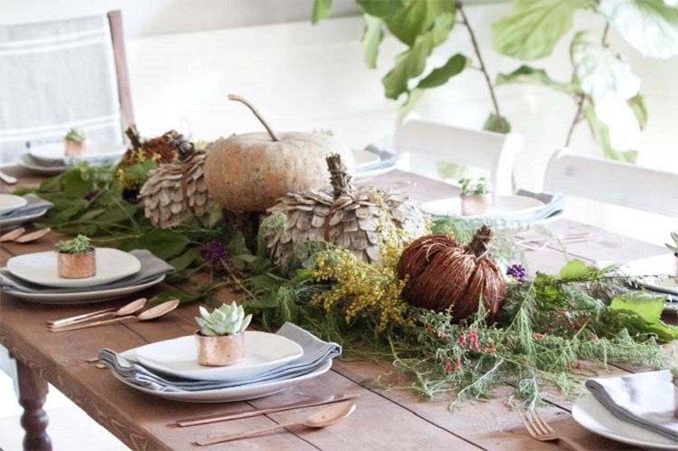 decoracion de mesas ramas estilos ideas