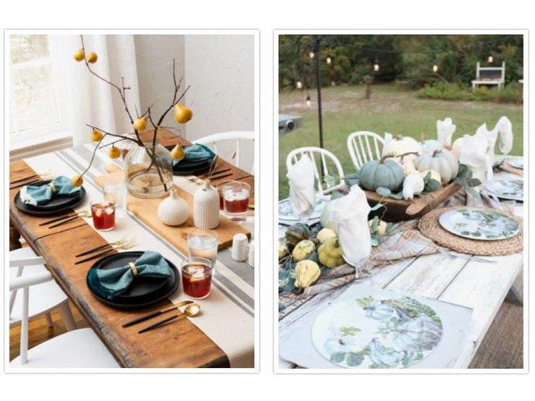 decoracion de mesas ramas secas adornos