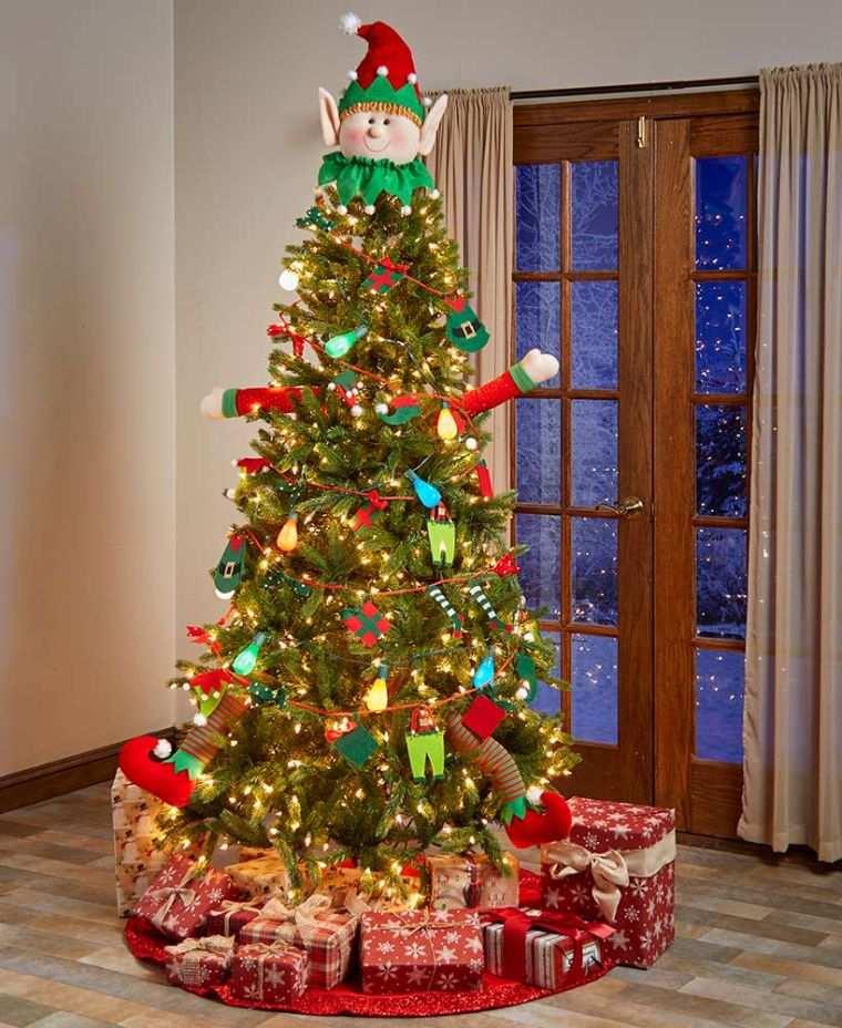 duendes navideños arbol