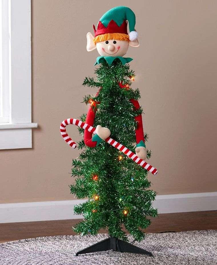duendes navideños baston