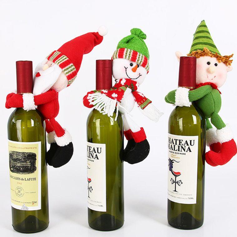 duendes navideños botellas