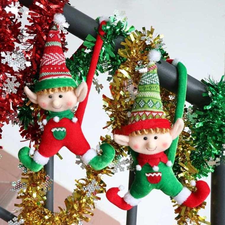 duendes navideños colgar