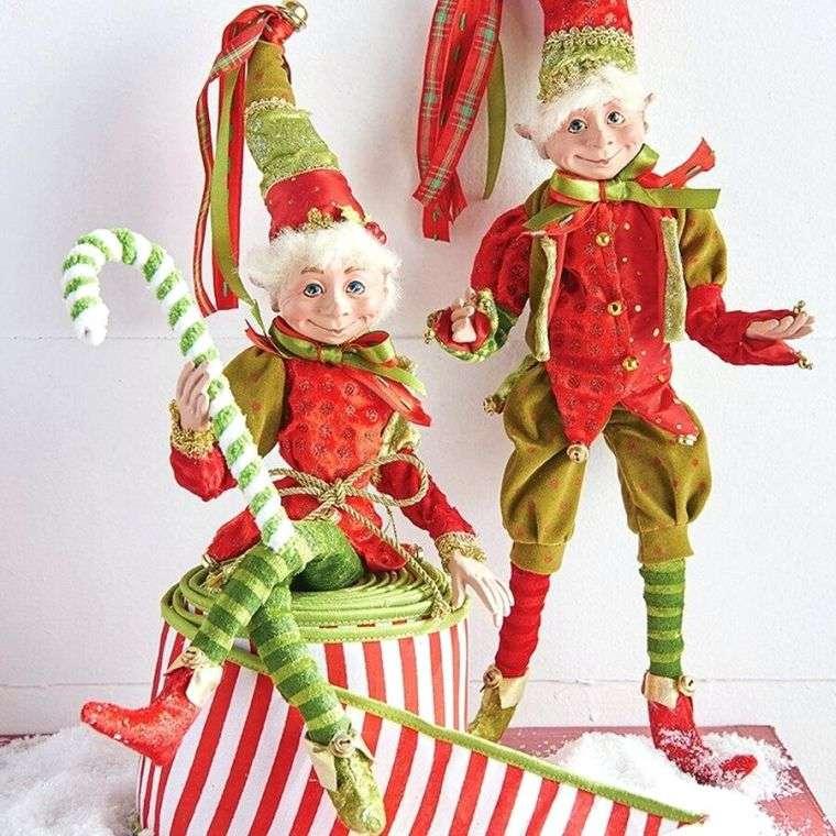 duendes navideños colores
