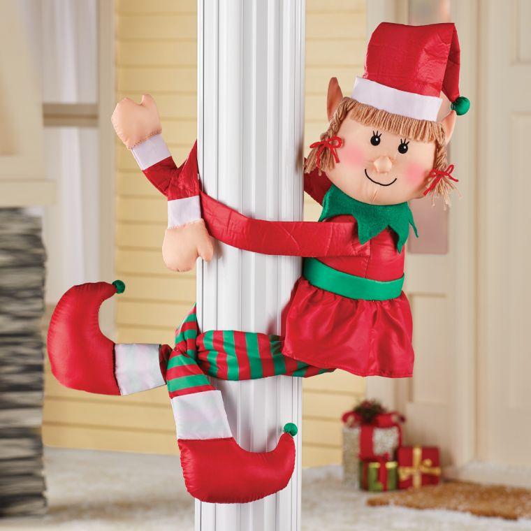 duendes navideños columna