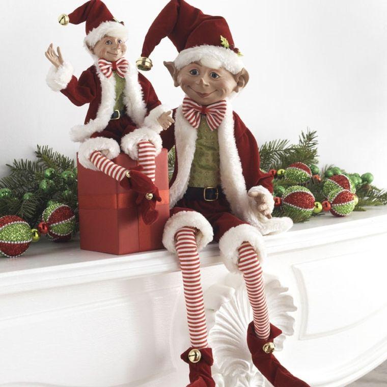 duendes navideños estante
