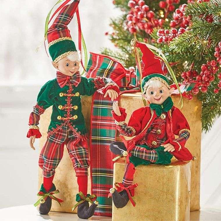 duendes navideños pareja