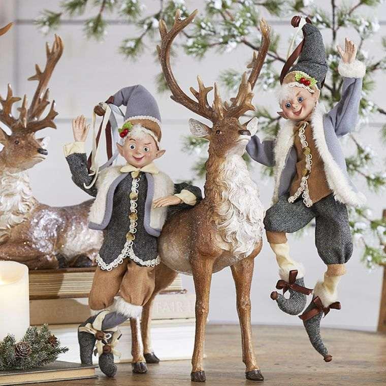duendes navideños reno